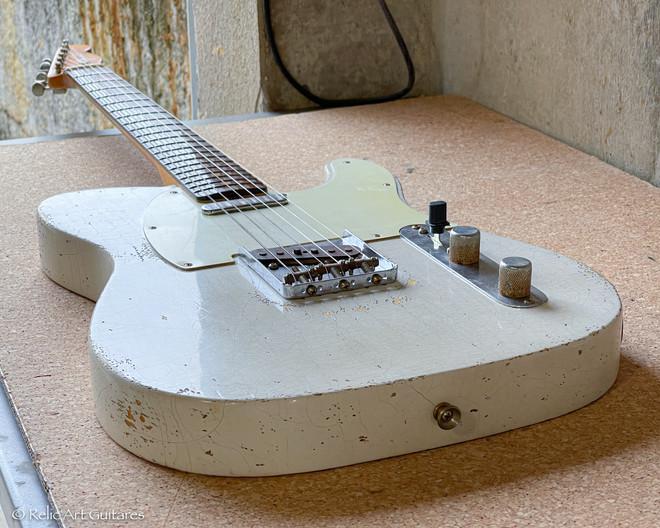 Relic'Art Fender telecaster RI 59 aged olympic white relic