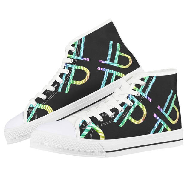 White High Top Canvas Shoes