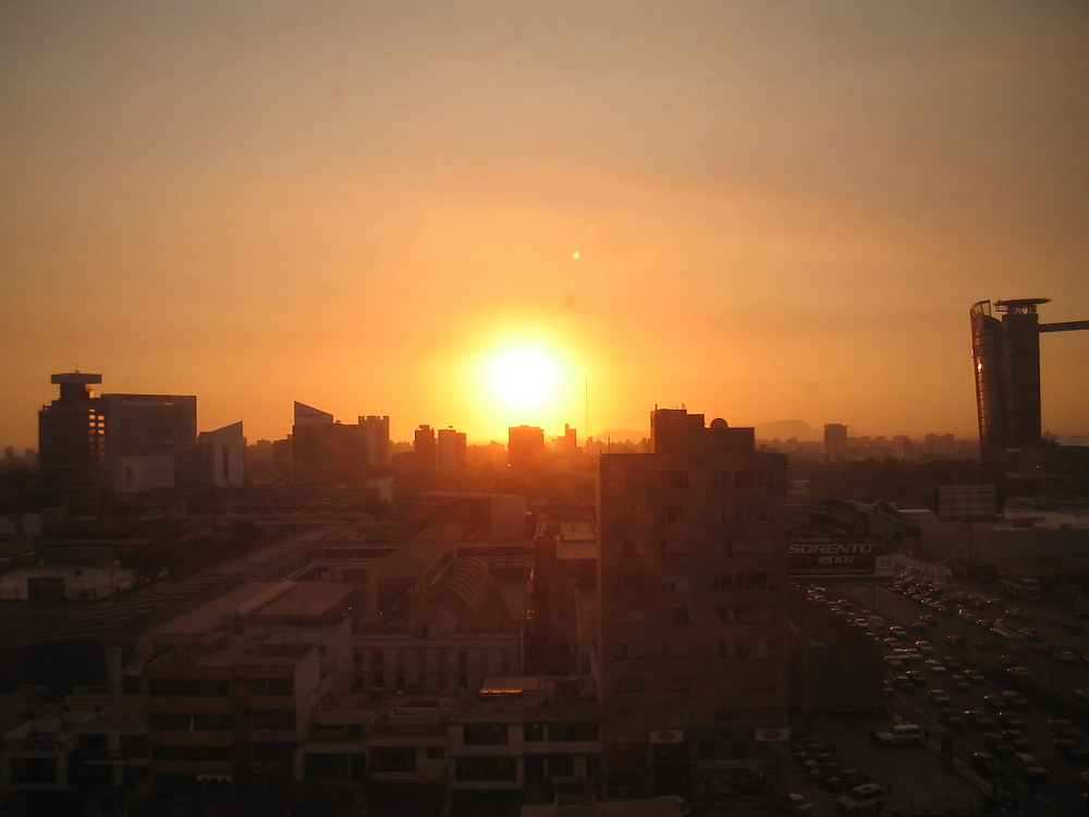 Sunset seen from my old office in San Isidro, Lima, Peru.