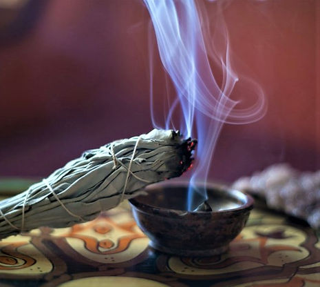 Smudging with sage