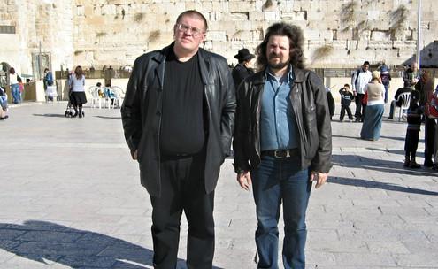 З Михайлом Абліним біля стіну плачу. Сафра ве-сайфа...