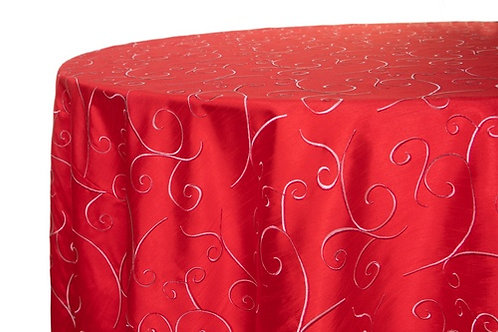 Specialty Red Shantung Swirl