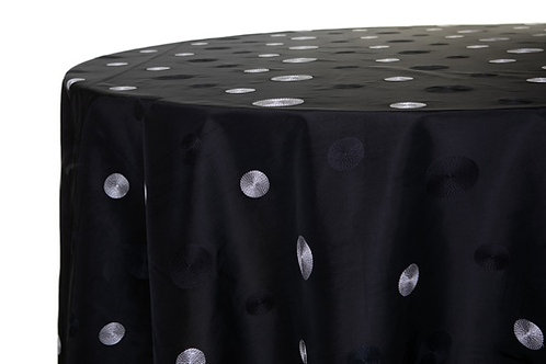 Specialty Black Circle Taffeta