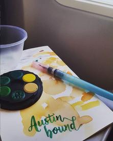 Austin Bound Watercolor