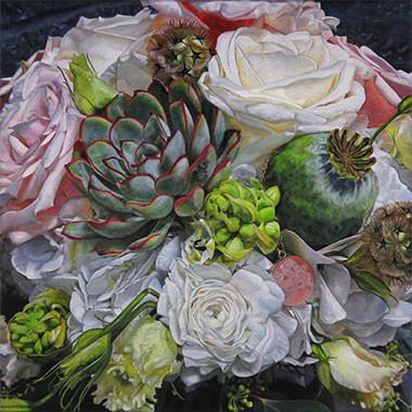Bridal Flower Bouquet Painting