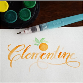 Clementine Water Color
