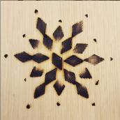 Wood Burnished Design