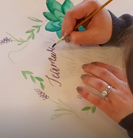 Hand Letter Watercoloring