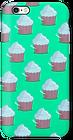 Cas de petit gâteau vert