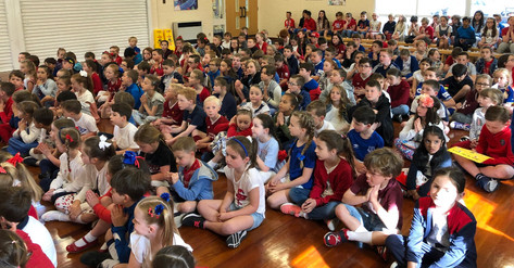 Red, white and blue assembly