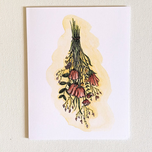 Drying Flowers Card