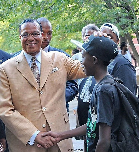 The Leader with the youth__#farrakhan #nationofislam #noi #fruitofislam #foi #mgt #islam #chicago #b
