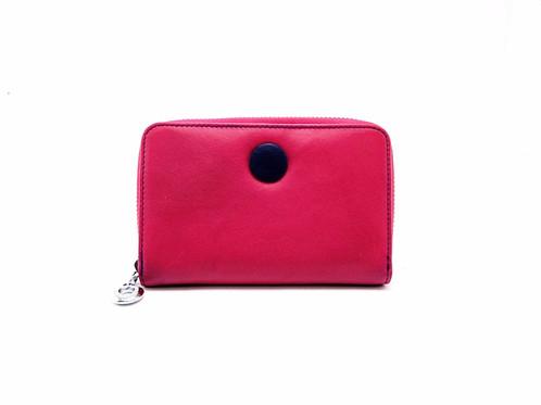 Porte Monnaie Cuir Femme Porte Cartes Couleur Rose Bleu R - Porte monnaie cuir femme