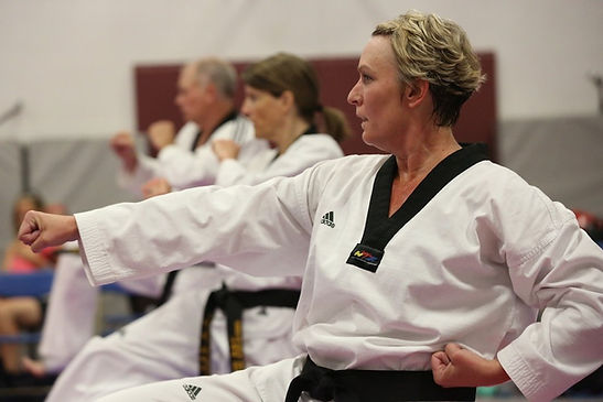Littleton CO Martial Arts, The ROCK Martial Arts & Fitness, Adult Martial Artists, taekwondo poomsae forms women and men