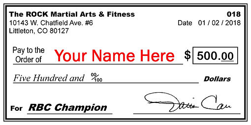 Grand prize winner - health and fitess competition - giant check - $500