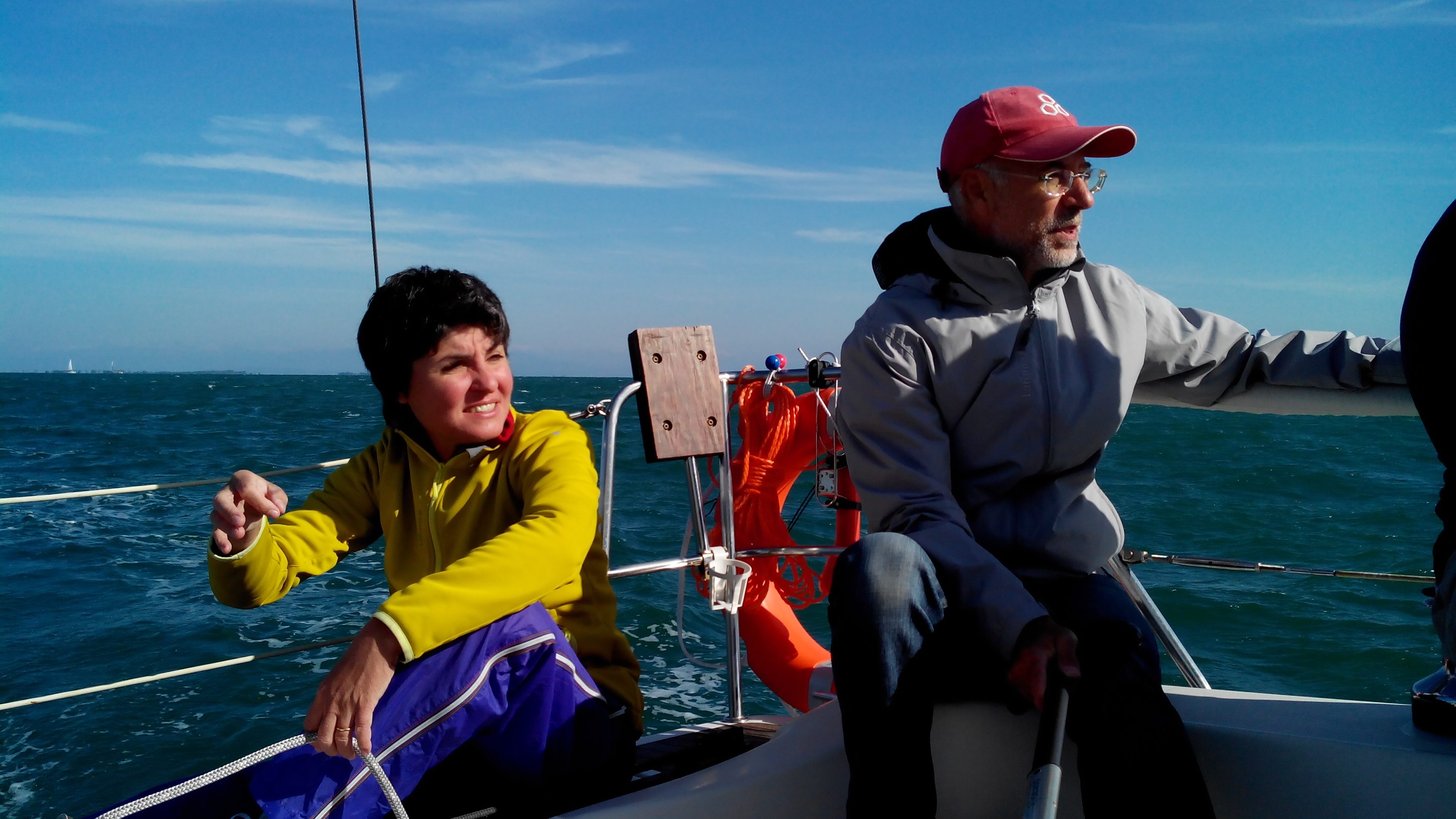 Paolo e Stefy in navigazione.....