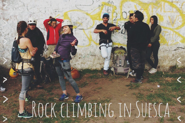 Rock climbing in Suesca