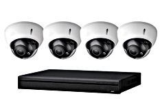 4 Dome Style Cameras - 6 MP - Abstract E