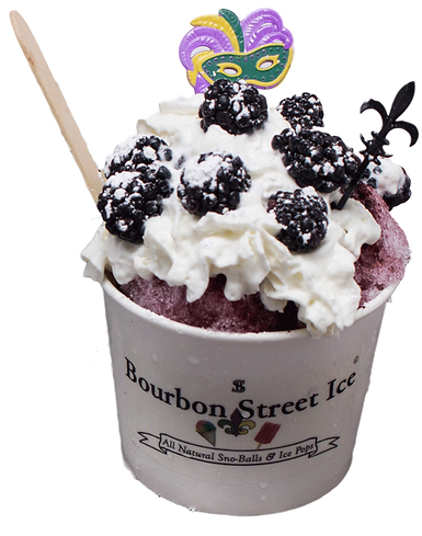 bourbon street ice blackberry snoball