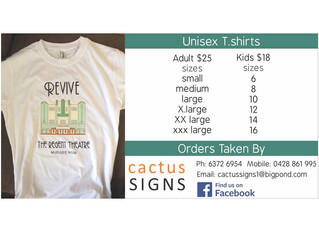 REVIVE THE REGENT T-SHIRTS