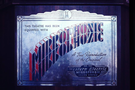 Western Electric Mirrorphonic Sound sign