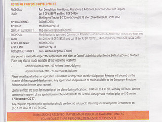 Notice of Proposed Development