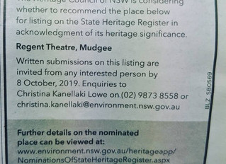 Notice of intention to consider listing on the State Heritage Register