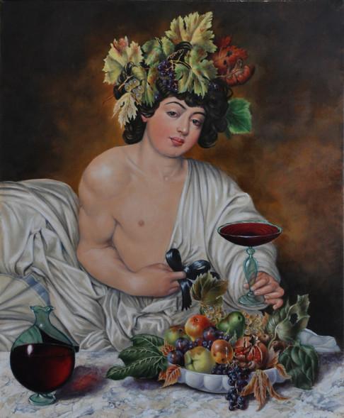"""""""Bacchus"""", d'après Le Caravage"""