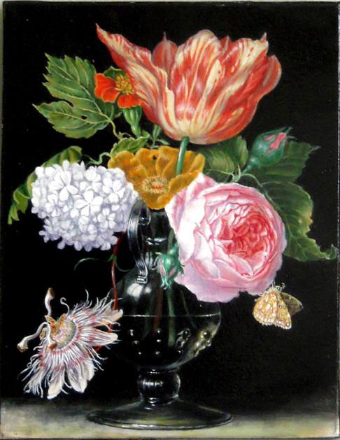 """""""Vase de fleurs avec fleur de la passion"""", d'après Hendrik de Fromantiou"""