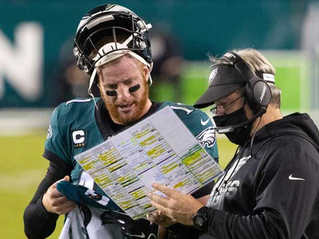 Banner: Eagles' Game Plan for Wentz and Pederson