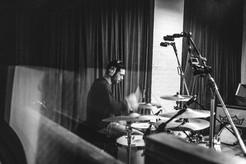 Recording at Studio Humbug, Isle of Wight.  Photo by Jim Homes