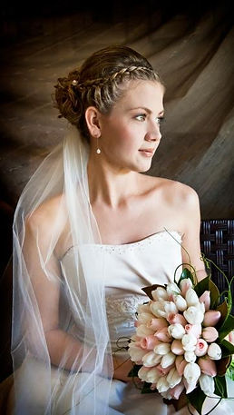 SOFT PINK FLOWERS FOR BRIDE-BEAUTIFUL BRIDE WITH BOUQUET