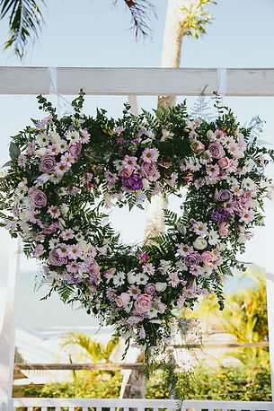 WEDDING HEART WREATH - FLOWERS
