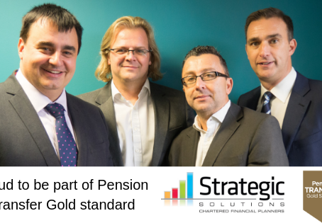 Strategic Solutions Financial Planners announce they have signed up to the Pension Transfer Gold Sta