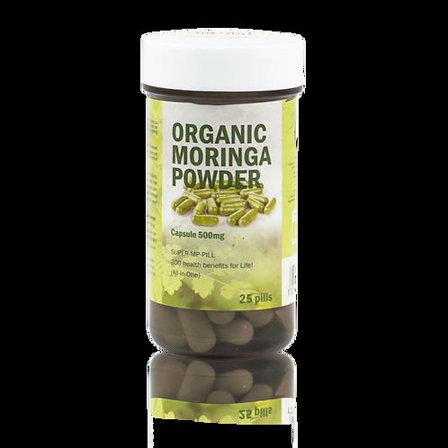 Organic Moringa Powder Capsules 50 Pills