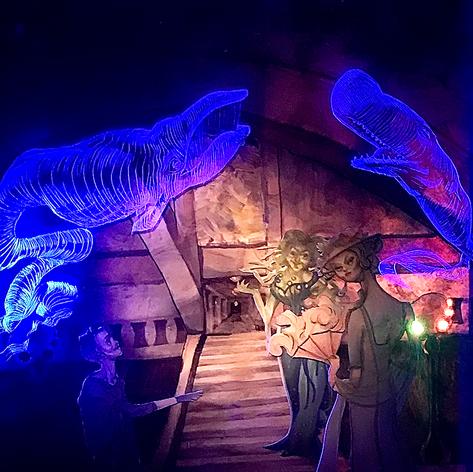 Illuminated Whale Spirit Lantern Tunnel