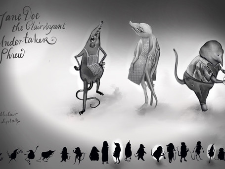 Character Designs: Jane Doe & the Clairvoyant Undertaker Shrew