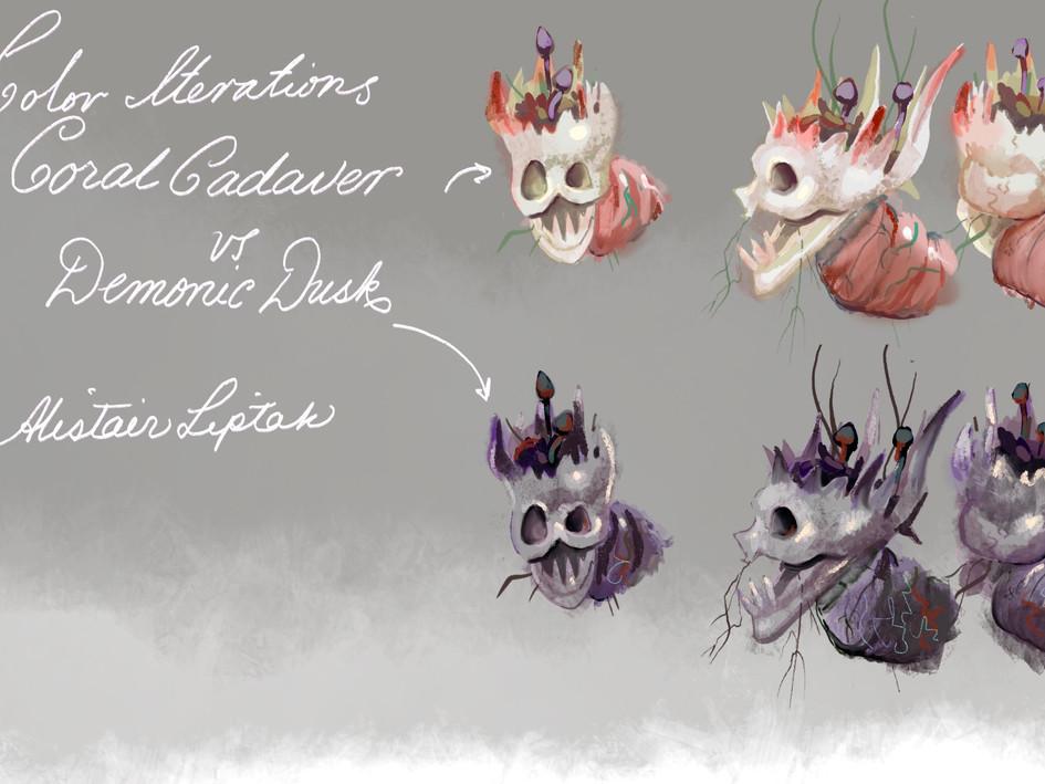Demon Mask Color Studies