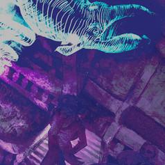 Detail: Illuminated Whale Spirit Lantern Tunnel