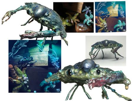 Detail of crab (progress) 🦀