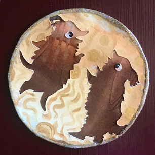 Papercut Dog Magnet with Embossing