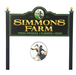 Simmons Farm logo on mock-up by Liptak Signs