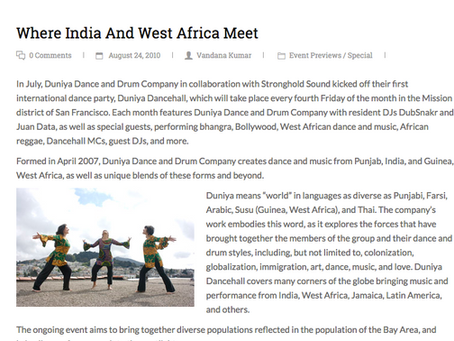 Where India and West Africa Meet