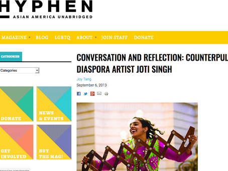 Conversation and Reflection: CounterPULSE Performing Diaspora Artist Joti Singh