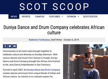 Duniya in the press: Duniya Dance and Drum Company celebrates African culture