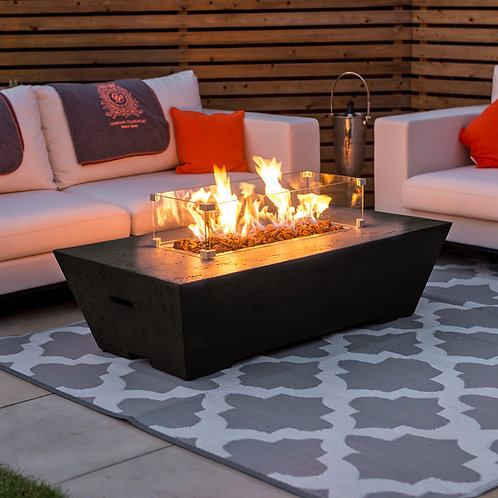 Gladstone Rectangular Gas Firepit (Multiple Colours Available)