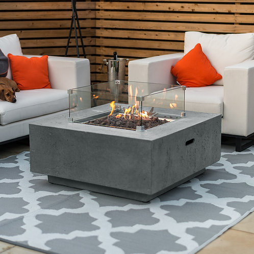 Albany Square Gas Fire Pit (Multiple Colours Available)