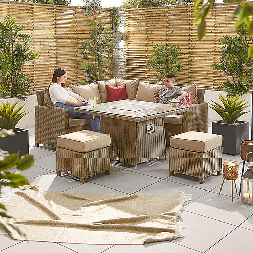 Compact Ciara Corner Dining Set with Firepit