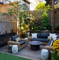 Urban, neutral, outdoor living space ext