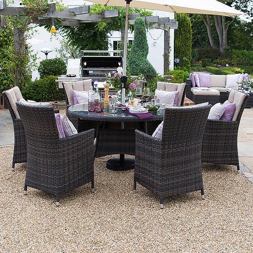 Sienna Round Dining Set (6,8 or 10 seat, Multiple Colours)